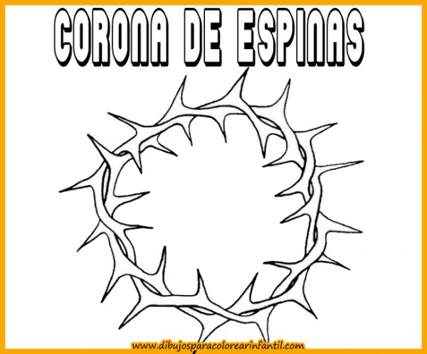 semanadibujos de semana santa corona de espinas para colorear
