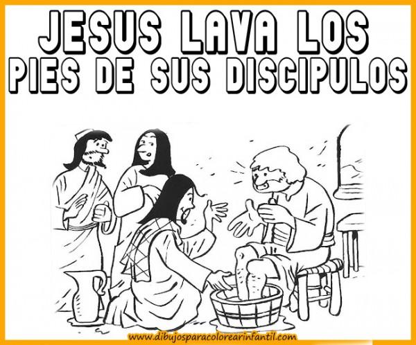 semanadibujos de semana santa jesus lava los pies de sus discipulos