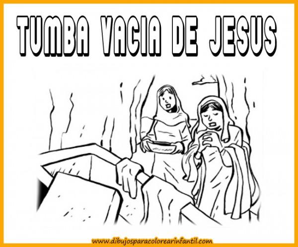 semanadibujos de semana santa tumba de jesus para colorear