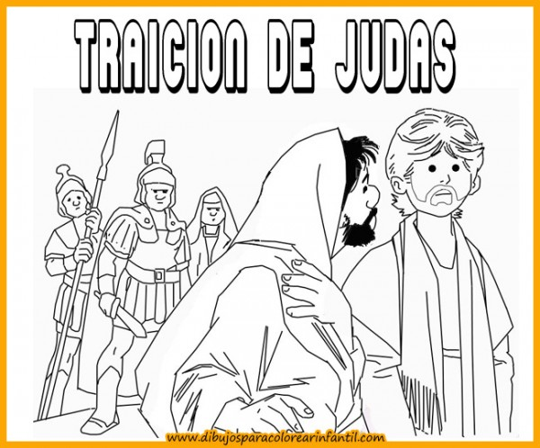 semanatraicion de judas para colorear