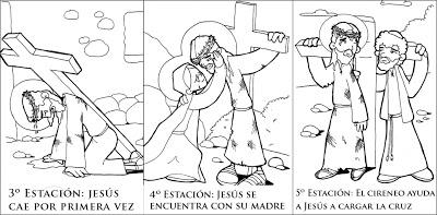 Dibujos Del Vía Crucis De Jesús Para Colorear Colorear Imágenes