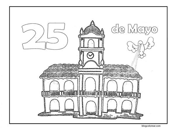Muchos Dibujos Para Pintar Del Cabildo De Buenos Aires Y Del 25 De