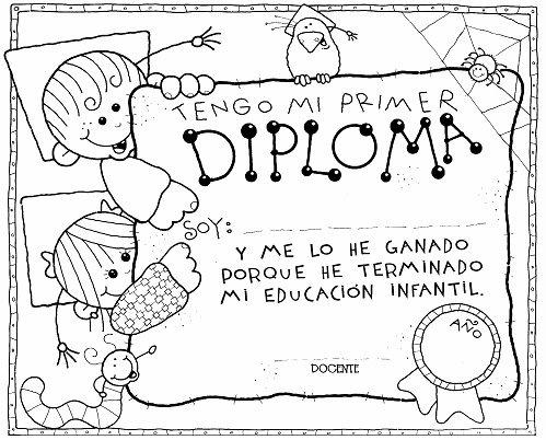 Dibujos del Día de la Educación Inicial en Perú para pintar ...