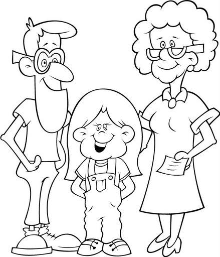 Familia-para-colorear-pintar-10