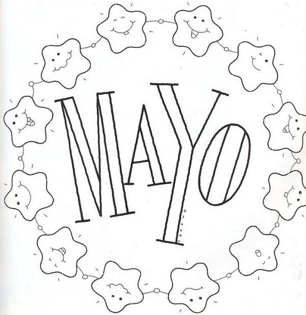 Carteles Del Mes De Mayo Para Imprimir Y Colorear Colorear