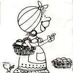 Dibujos de vendedoras de empanadas del 25 de mayo de 1810