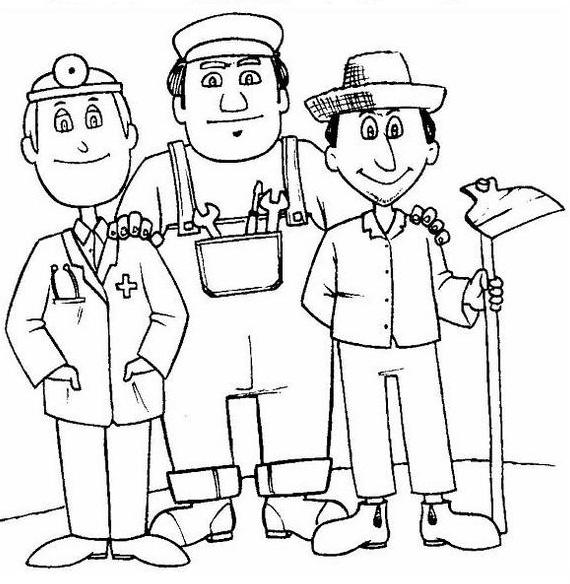 30 dibujos para imprimir y pintar del Día del Trabajador: 1º de mayo ...