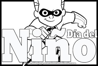 Dibujos Para Colorear 30 De Abril Dia Del Nino