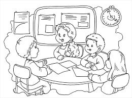 Dibujos Del Día De La Educación Inicial En Perú Para Pintar