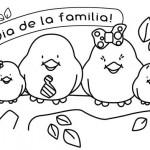 Dibujos del Día de la Familia para imprimir y pintar