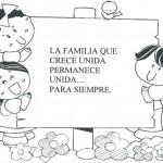 Dibujos del Día de la Familia para imrprimir y pintar