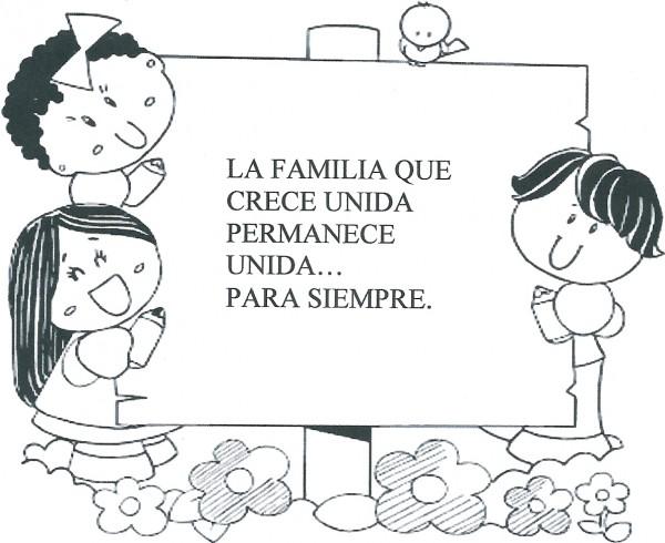 Dibujos Del Día De La Familia Para Imrprimir Y Pintar Colorear