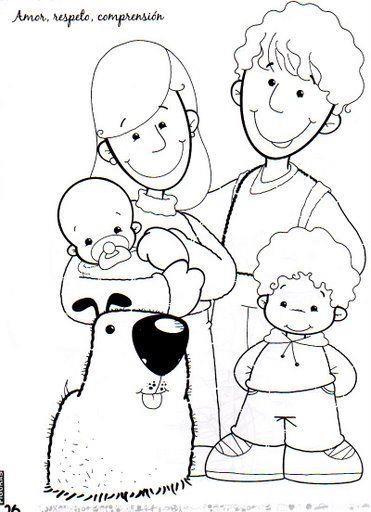 Dibujos Del Dia De La Familia Para Imprimir Y Pintar on Letras Para Colorear