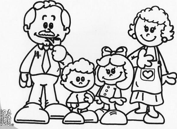 Pintando Bonitos Dibujos Del Día De La Familia Colorear Imágenes