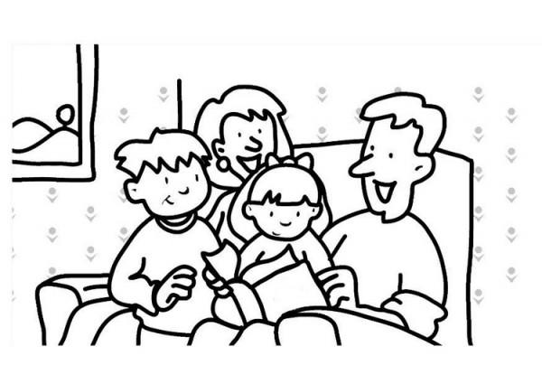 Dia De La Familia Dibujos Para Pintar Colorear Imagenes