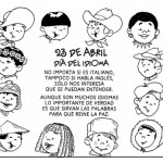 Imágenes para colorear el 23 de abril – Día del Idioma Español para pintar imágenes
