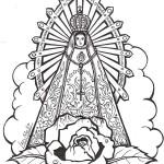 Dibujos de la Vírgen de Luján para imprimir y pintar