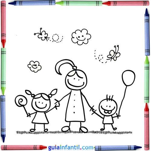 Diplomas Y Tarjetas Del Día De La Madre Para Descargar Y Pintar