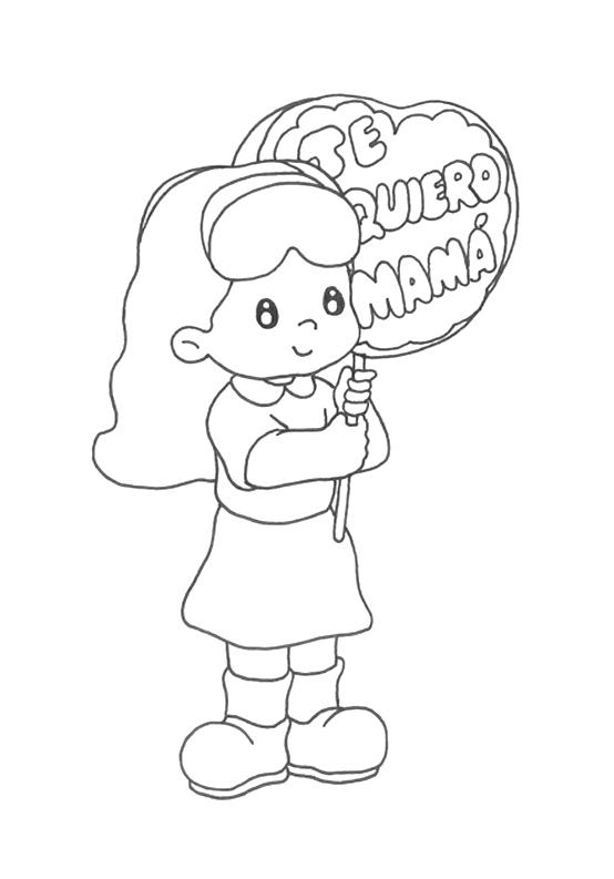 Dibujos Del Día De La Madre Para Pintar Y Regalar A Mamá