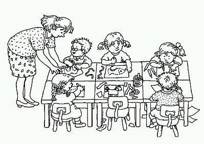 Dibujos del d a de los jardines de infantes y las maestras jardineras para pintar colorear - Dessin classe ...