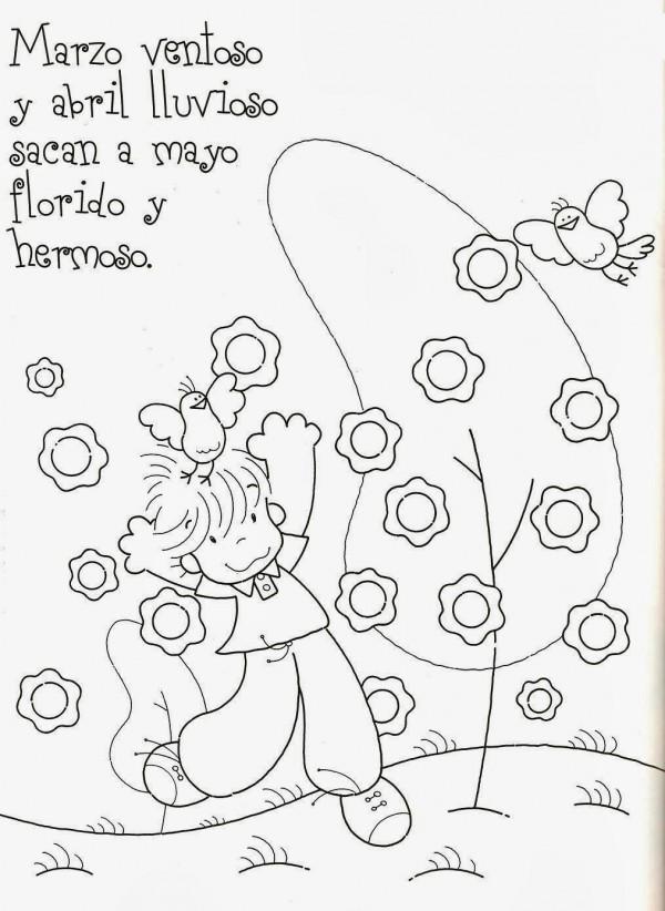 Vistoso Marzo Hojas Para Colorear Friso - Dibujos de Animales para ...