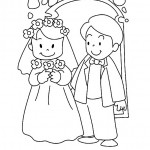 Dibujos para pintar del Día del Matrimonio
