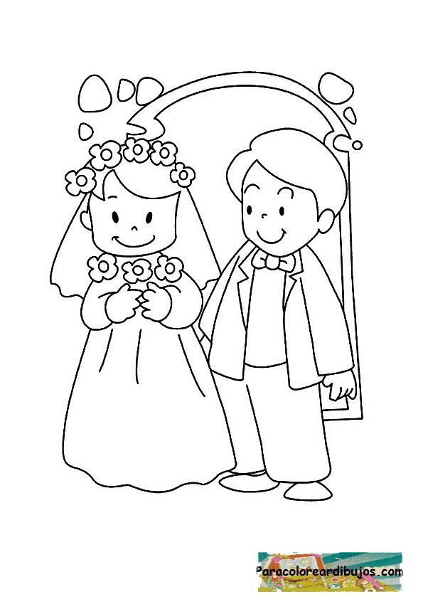 Dibujos para pintar del Día del Matrimonio | Colorear imágenes