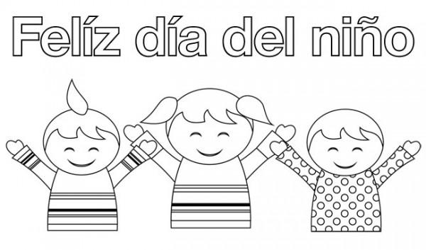 30 De Abril Día Del Niño En México Para Pintar Colorear Imágenes