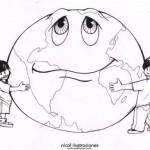 Dibujos infantiles para pintar del Día Mundial de la Tierra