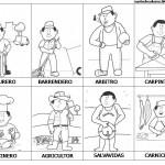Dibujo del Día del Trabajador para pintar