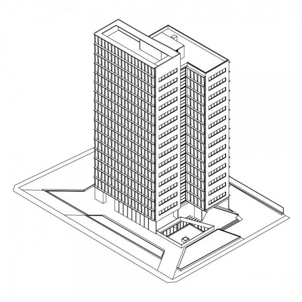 dibujos de edificios f225ciles para colorear colorear im225genes