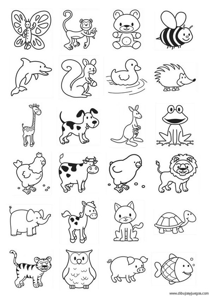 Plantillas Con Dibujos De Animales Para Pintar Y Recortar Colorear