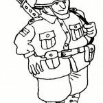 Dibujos de soldados para descargar, imprimir y colorear