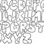 Plantillas de abecedarios para colorear