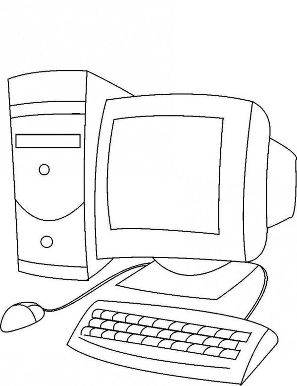 dibujos de computadoras para imprimir y pintar