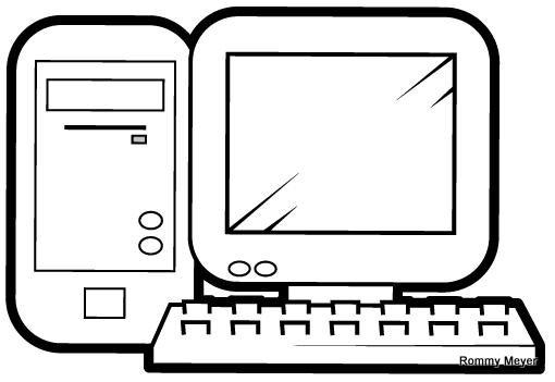 Dibujos de computadoras para imprimir y pintar | Colorear imágenes