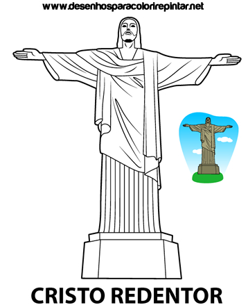 cristo-redentor-desenho-para-colorir