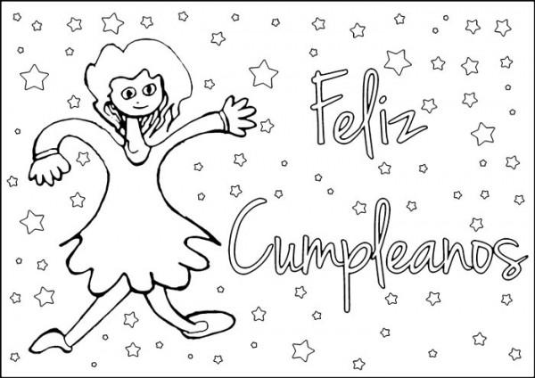 Tarjetas de cumpleaños para colorear y regalar | Colorear imágenes
