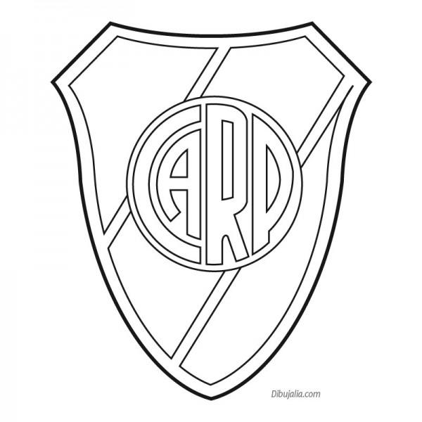 Escudos de Boca Juniors y River Plate para pintar ...