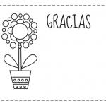 Tarjetas de agradecimiento para descargar, imprimir y colorear
