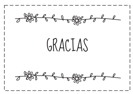 Tarjetas de agradecimiento para descargar, imprimir y colorear ...