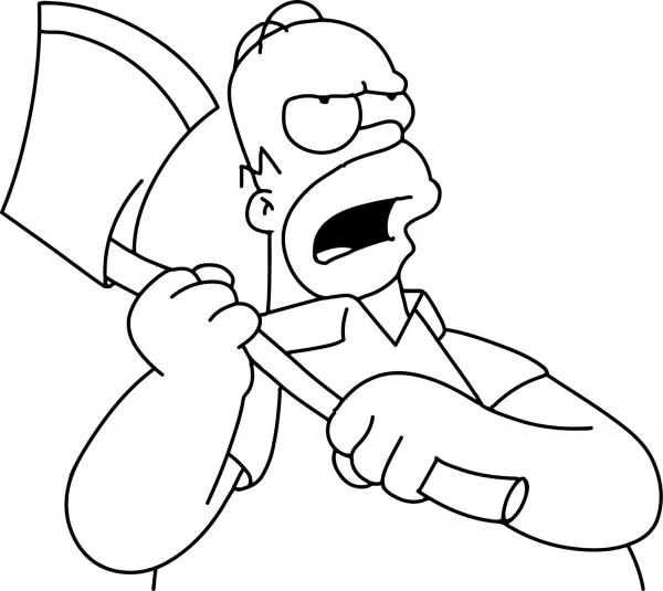 Dibujos de Homero Simpson para colorear en familia | Colorear imágenes