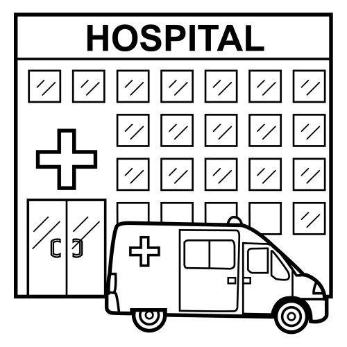 Dibujos De Hospitales Para Colorear Colorear Imágenes