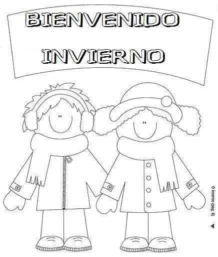 DIBUJOS de BIENVENIDO INVIERNO para Imprimir y Pintar | Colorear ...