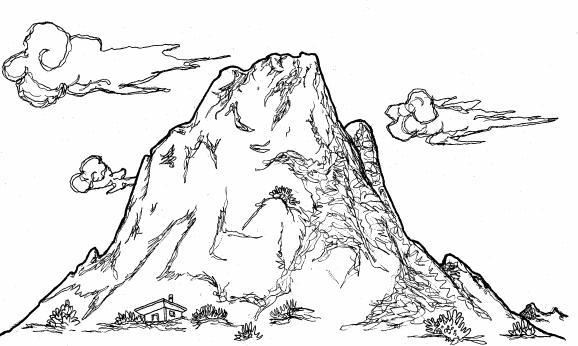 Dibujos de montañas para imprimir y pintar | Colorear imágenes
