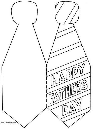 Dibujos de corbatas de Felíz Día Papá para colorear
