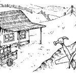 Dibujos de paisajes rurales para colorear