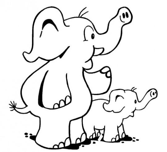 Elefantes-colorear-540x492