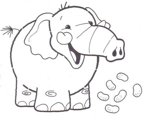 Elefantes-para-colorear-online