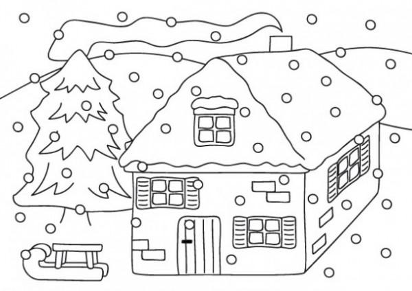 Dibujos De Bienvenido Invierno Para Imprimir Y Pintar Colorear